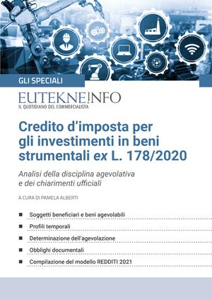 Credito d'imposta per investimenti in beni strumentali ex L. 178/2020